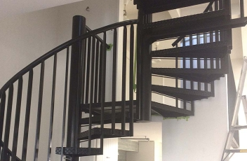 Spiral staircase fabrication for Ponsonby home
