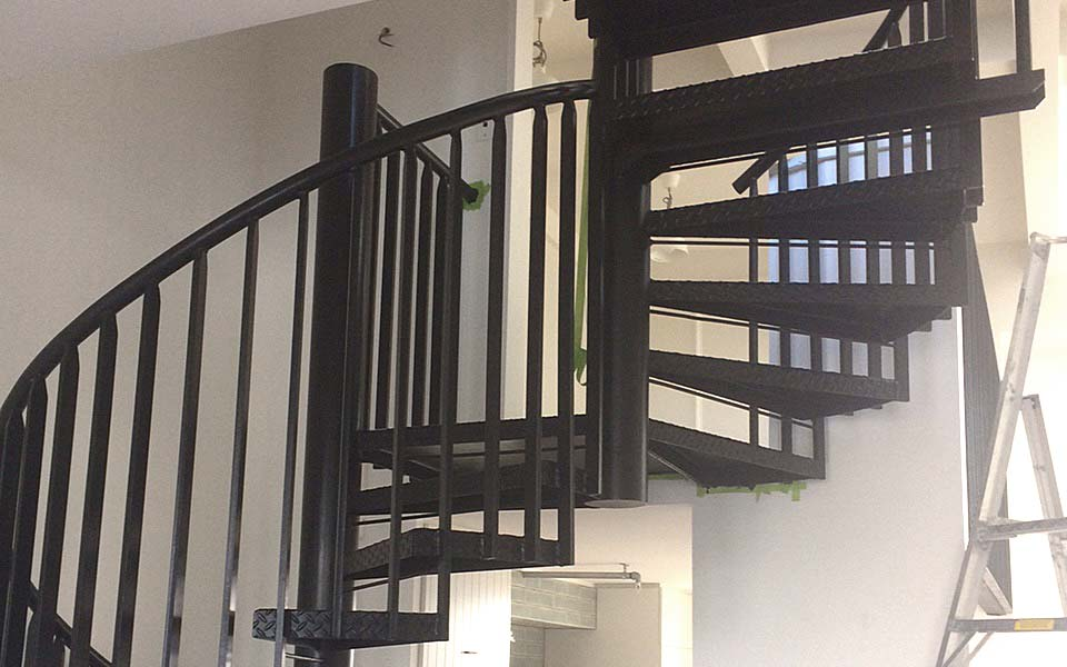 Spiral staircase fabrication for Auckland home