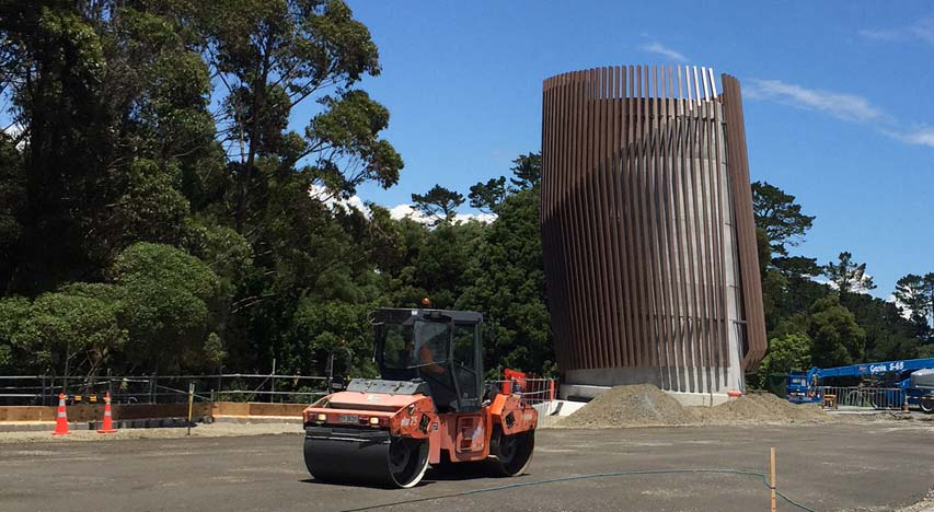 Steel fabrication for Waterview tunnel exhaust stack